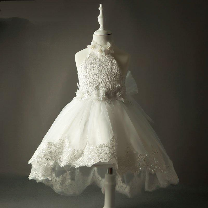 Tulle Lace Flower Girl Dresses White Junior Flower Girls Dresses ...