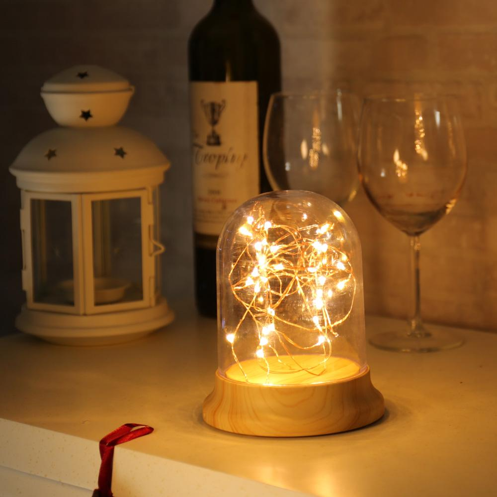 New firework led table light night light glass cover wood base new firework led table light night light glass cover wood base bedside lamp christmas gift for child kids coffee shop party decorations christmas aloadofball Image collections