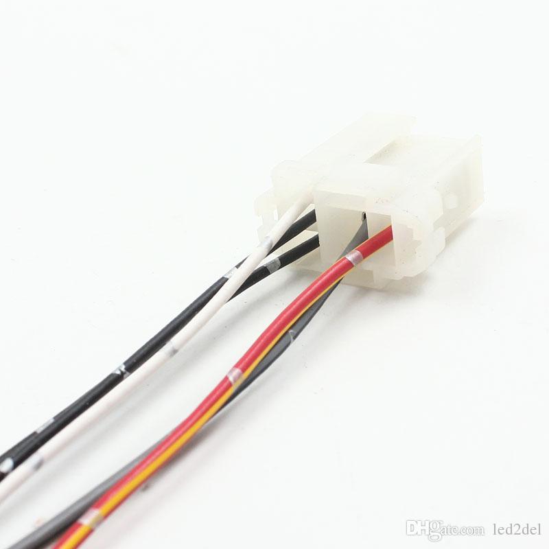 Yüksek kalite Araba Röle Soket Naylon Baz Tutucu 5 Tel Kablo Demeti Ön kablolu Adaptör Konnektör Tak