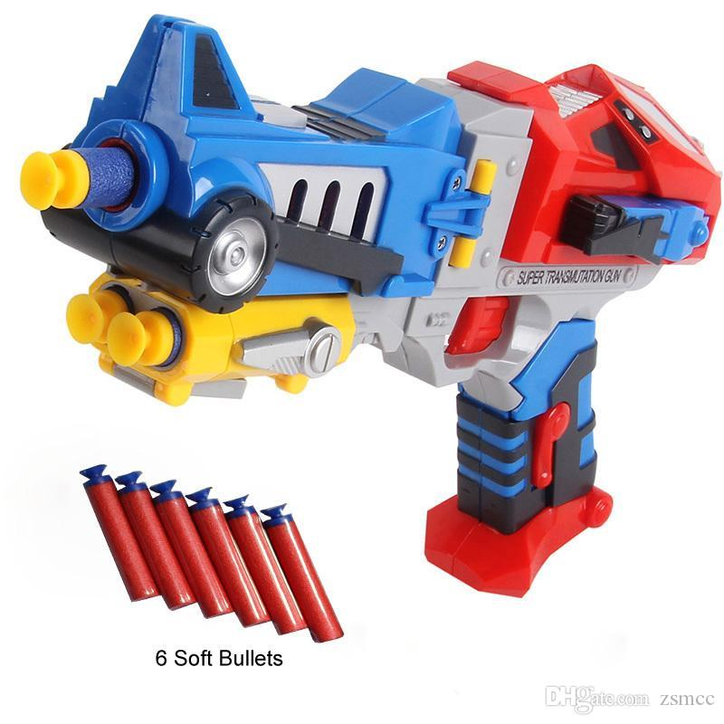 Transform Nerf Sniper Dart Blasters Guns Robots Model With 6 Soft Bullets Plastic Mega Pistolas N strike Kids Rifle Hot Sale Toy