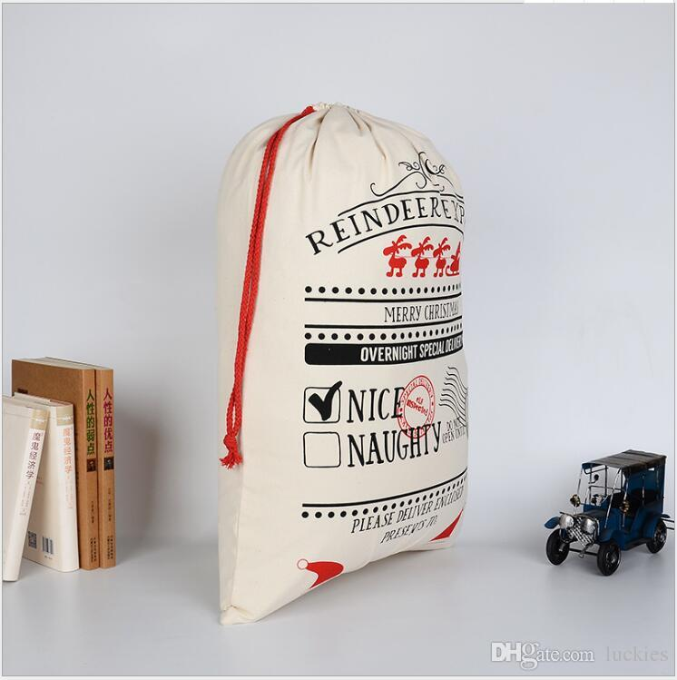 Christmas Bag Santa Sack Canvas Sack For Christmas Gifts Special Delivery Extra Large Size 27.5x19.5 inch