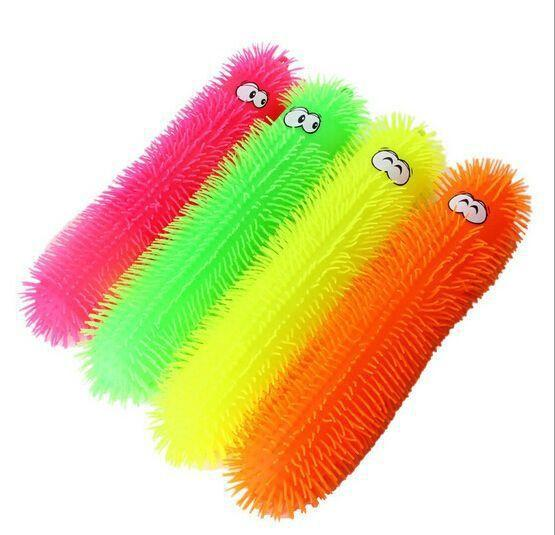 Squishy Worm Ball : Caterpillar Silicone Puffer Toy 55 Cm Funny Kids Blink Toys Lovely Cartoon Styles Finger Puppets ...