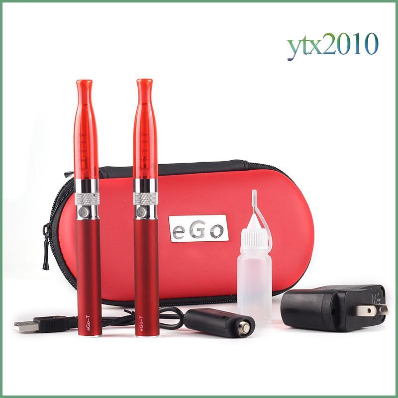 Electronic Cigarette H2 EGo T Double Zipper Case Kit 2.0ml Atomizer 2.4ohm Vaporizer Ecig EGo T Battery Zipper Kit
