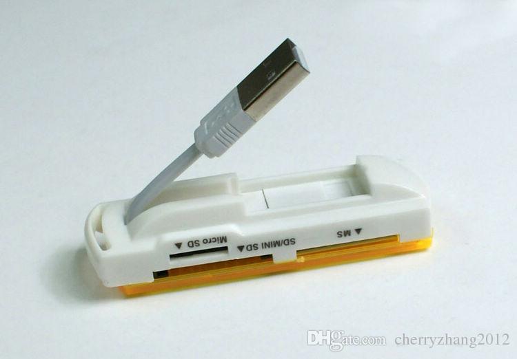 USB 2.0 TF M2 Camera Micro SD Card Reader Memory Stick M2 Mini Multi Cards in 1 New 50 sztuk