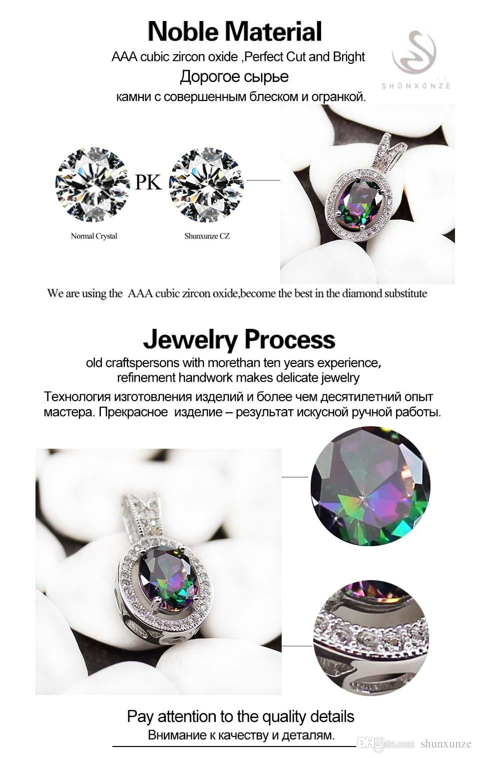 Trendy Rainbow Mystic Cubic Zirconia Fashion Micro inlays jewelry Silver Plated Pendants R3231 Promotion Favourite Best Sellers Vintage