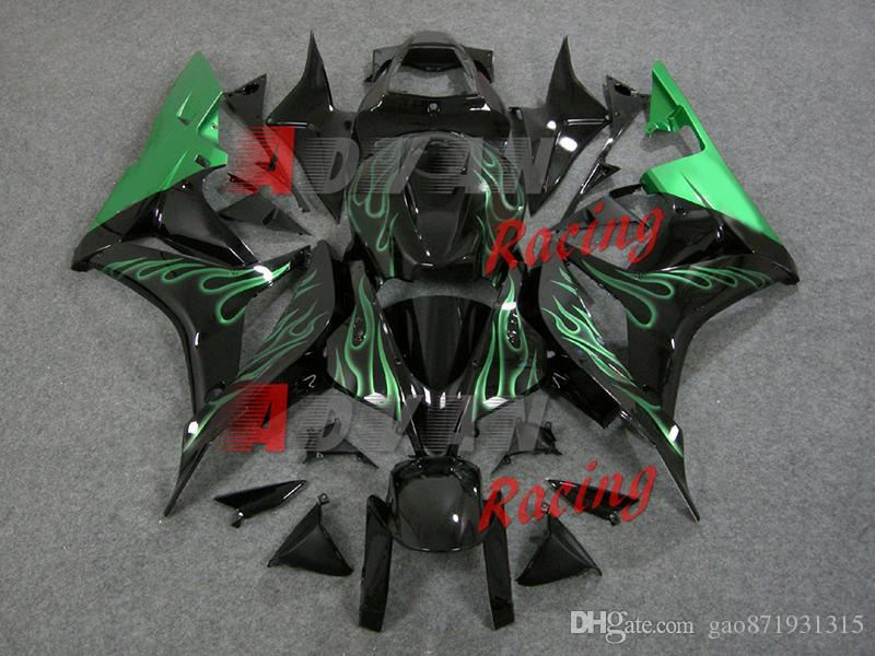 NUEVO 2014 Flames INJECTION Carenado Set Body Set CBR600RR 2007-2008 A20