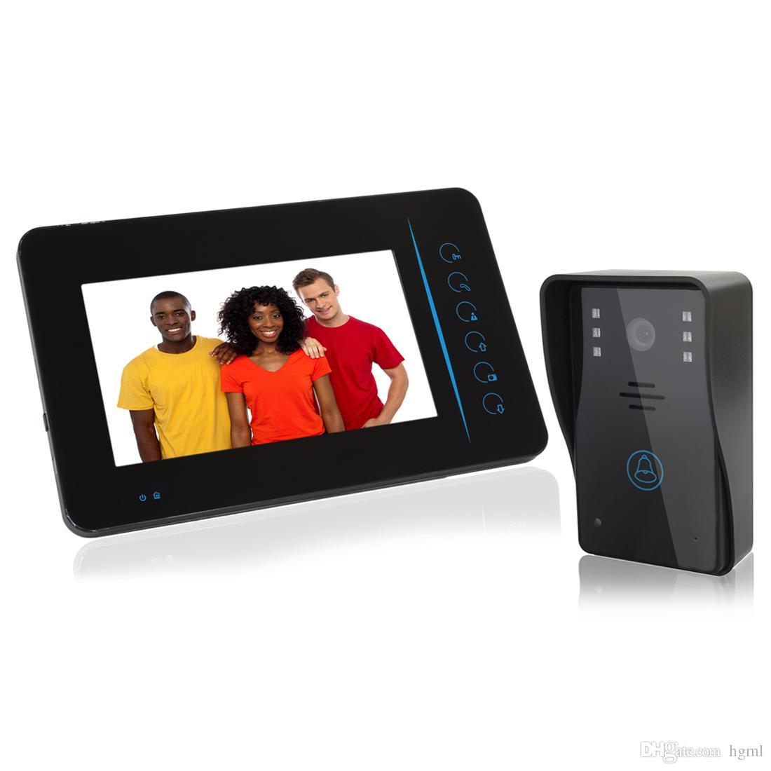front door camera monitor7 Tft Screen 24g Wireless Video Door Phone Intercom Doorbell Home