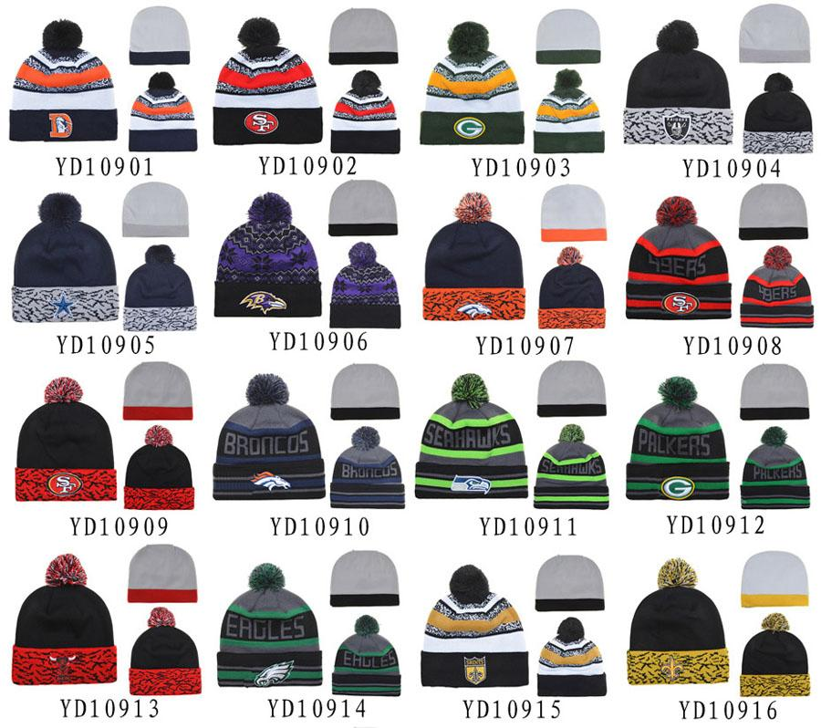... Hats Hats sports Beanies beanie teams Knitted Women Brand Sports Warm  Winter Beanie Cheap hats Pom ... 47d6eb9aa15