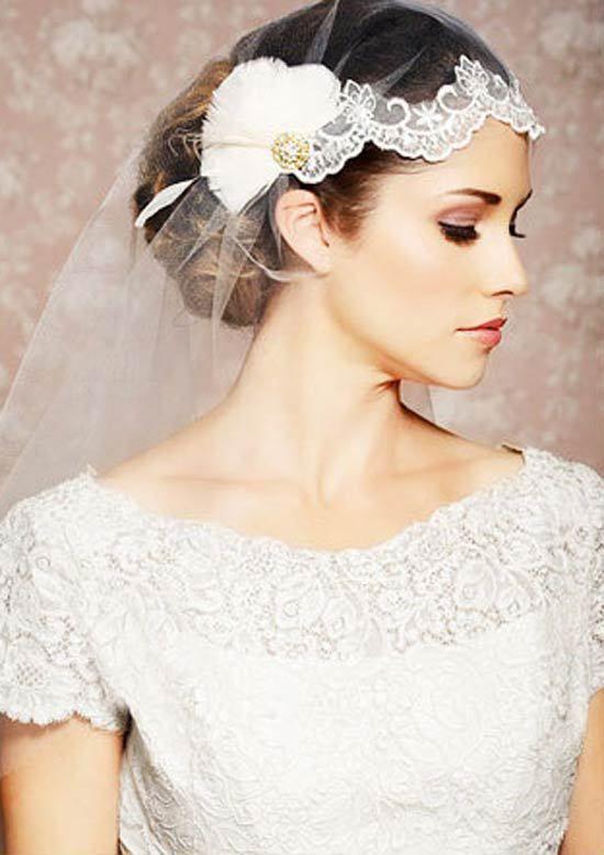 2016 Bridal Veils Special Wedding Headdress Feather Small Mesh