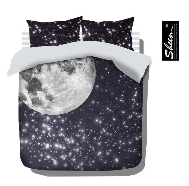 Top Moon And Stars Bedding Comforter Set For King Queen Full Size  XY27