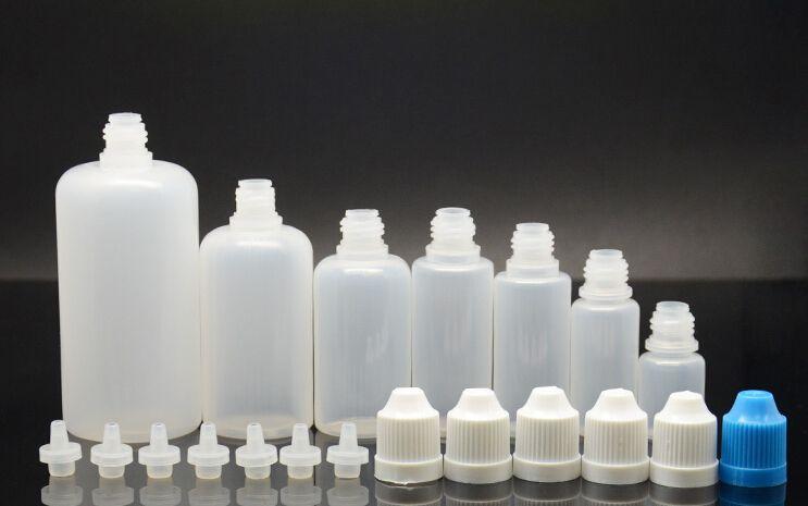 Ego Solf botella de aguja PET / PE botella 5ML 10ml 15ML 20ML 30ML 50ML botella cuentagotas Empty E botella líquida tapa a prueba de niños con pin largo Consejos