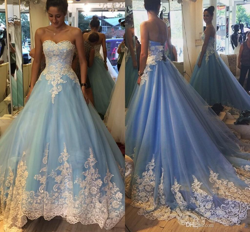 vintage blue wedding dress | Wedding