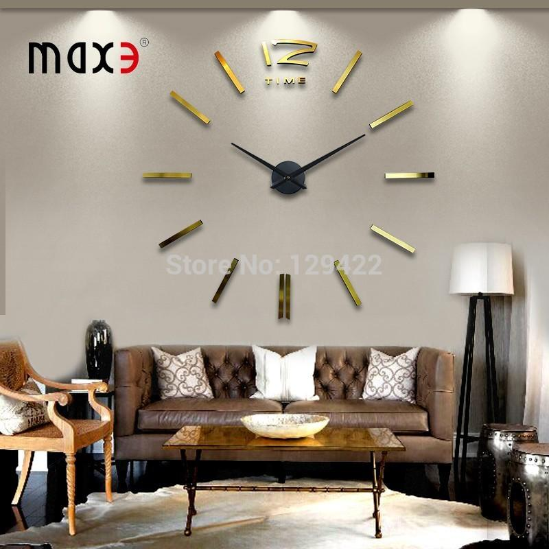 Golden Color Living Room Wall Clock Home Decor Large Digital Wall Clock,  Modern Design Large Creative Wall Clocks 130 * 130cm Black Kitchen Wall  Clocks ...