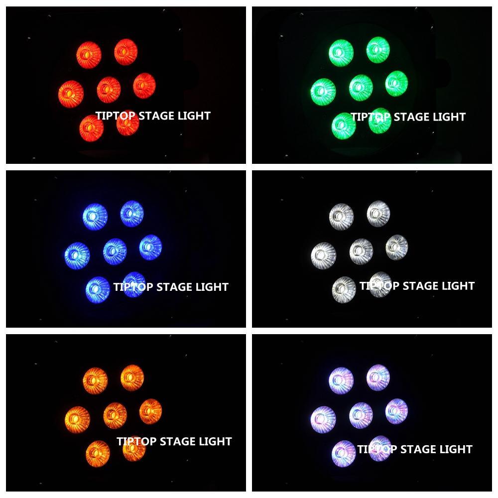 TIPTOP 4 Units 65W LED Par Lights Flashing Stage Light DMX512 Control Wedding DJ Equipment 7x15W 5inmixing