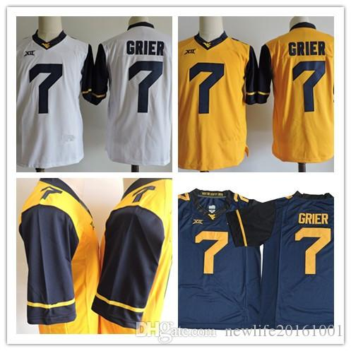 2019 Mens West Virginia Mountaineers  7 Will Grier College Football Limited  Jerseys Gold Yellow Gray Navy Blue White College Jerseys S 3XL From ... d60af2b4e