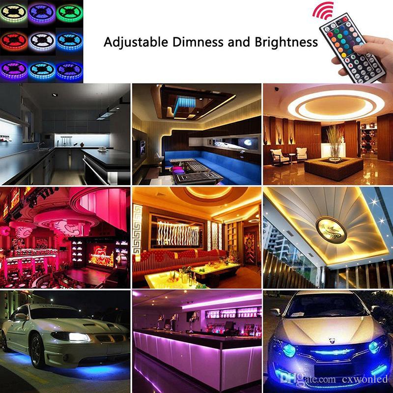 DC12V LED Strip Set 5 Meter Flexibles Licht LED Strip Licht RGB Farbe, LED Strip 5050 RGB 44Key Controller + 12 V Netzteil