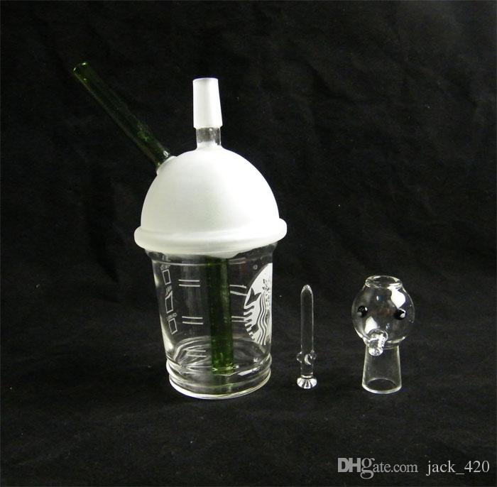 SANDBALASTED DABUCCINO STARBUCKS GLASBLASE ÖL RIG Dab Concentrate Ölplattform HITMAN GLAS X EVOL GLAS DABUCCINO INSPIRED CUP RIG