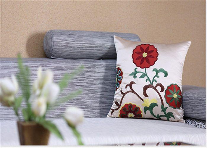 Floral applique sofa cushion pillow cushion lumbar pillow jd376