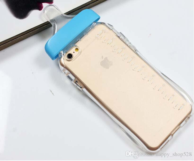 Milk Bottle case Nipple Shaped Silicone Case Baby Transparent Back Cover Strap For 4s 5 5s 6 6plus