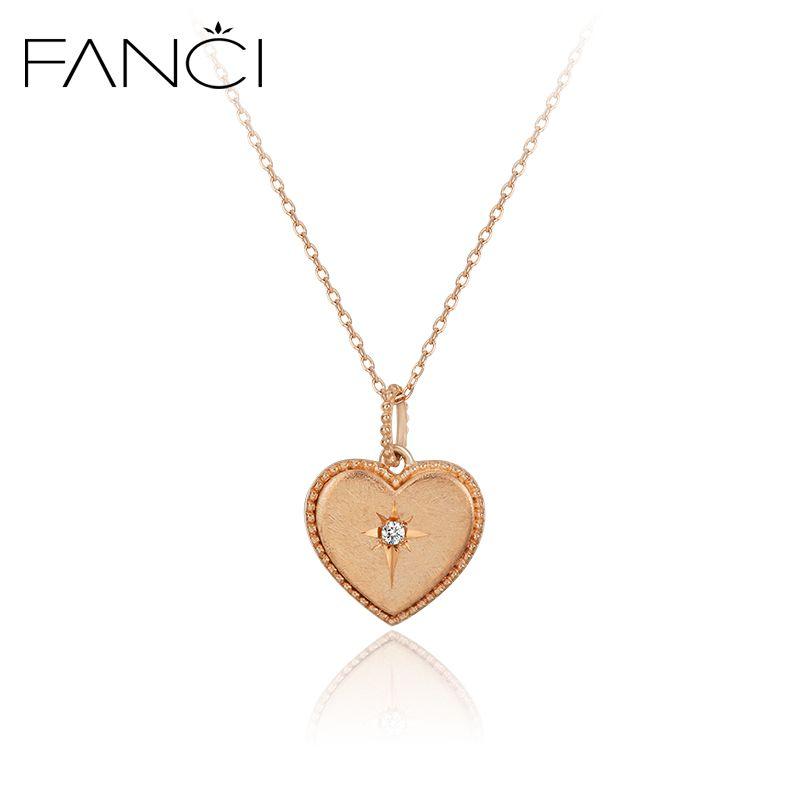 Fanci korea 10k gold diamond necklace female clavicle personalized see larger image mozeypictures Images