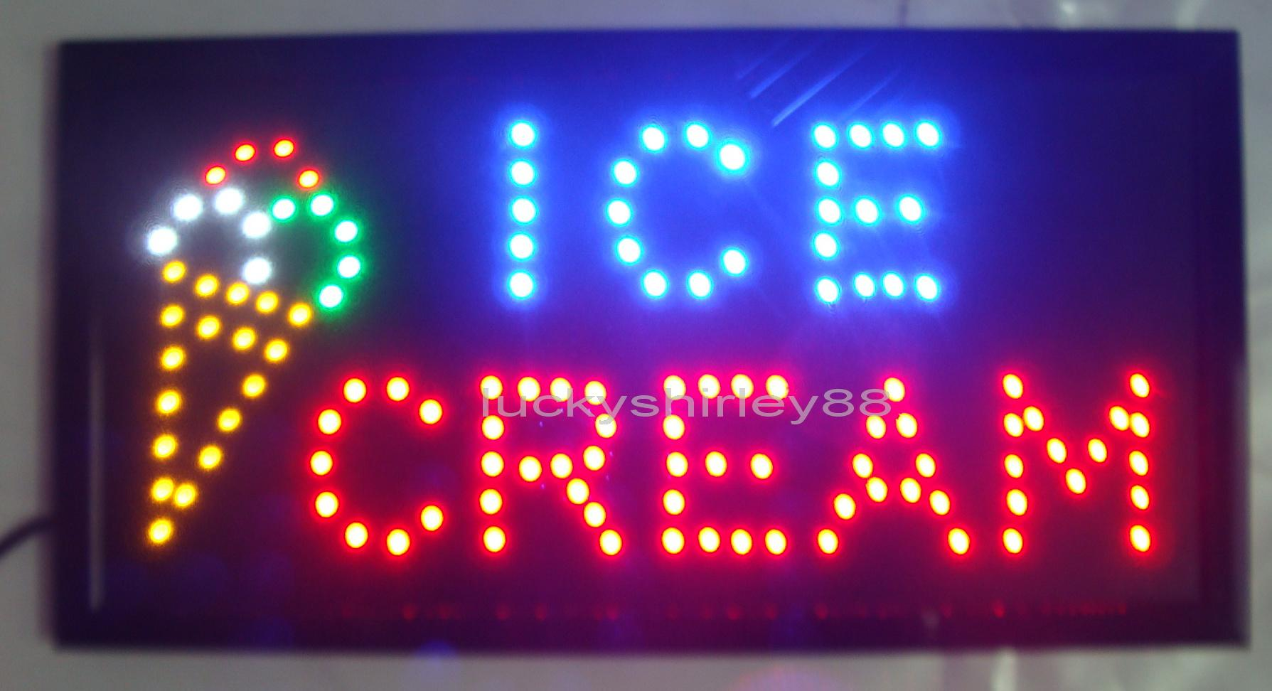 2018 New Arriving Customized Led Ice Cream Signs Neon Ice