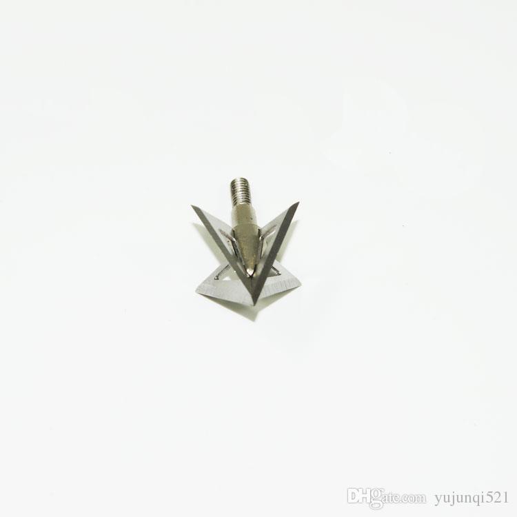100Grain 4-blade Cross Stars Silver Broadhead Stainless Steel Arrow Point Hunting for Crossbow