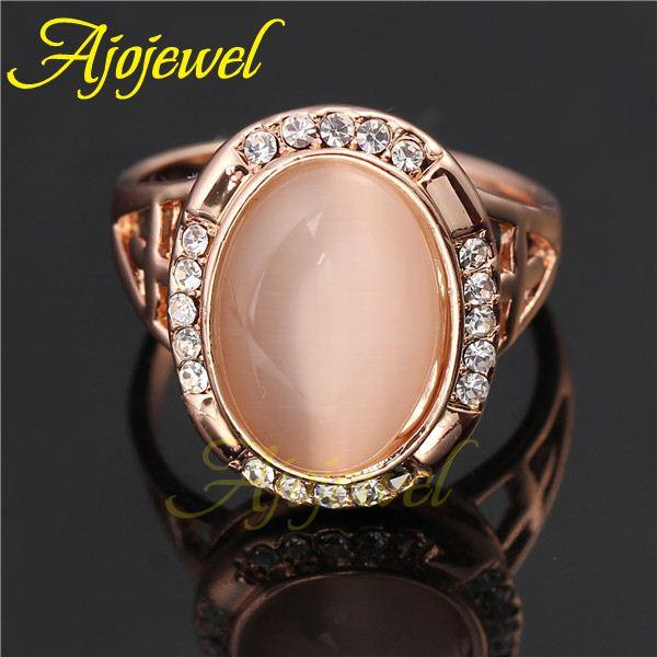 010 Fashionable Elegant Ring Jewelry 18k Rose Gold Plated