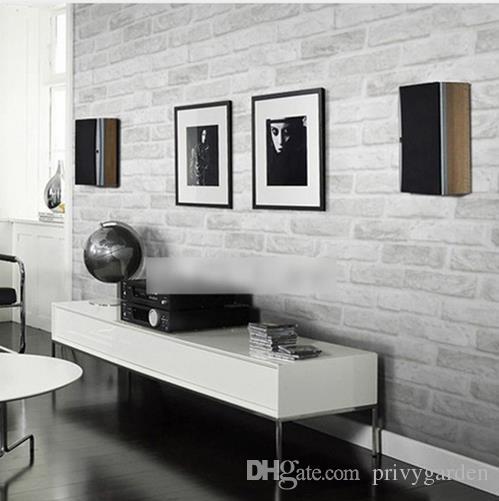 Acheter Vintage Rustique Gris Blanc Brique Papier Peint Rouleau