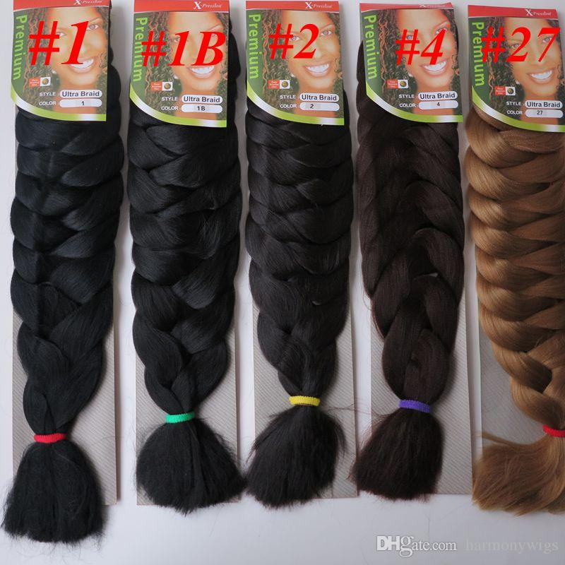 Xpression Jumbo Braids Hair 82inch 165g Single Color Ultra