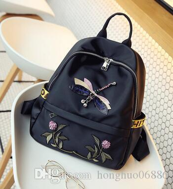 d0813cdb5e 2017 New European And American Handbags New Winter Fashion Embroidered Backpack  Joker Leisure Large Capacity Bag Water Backpack Mesh Backpack From ...