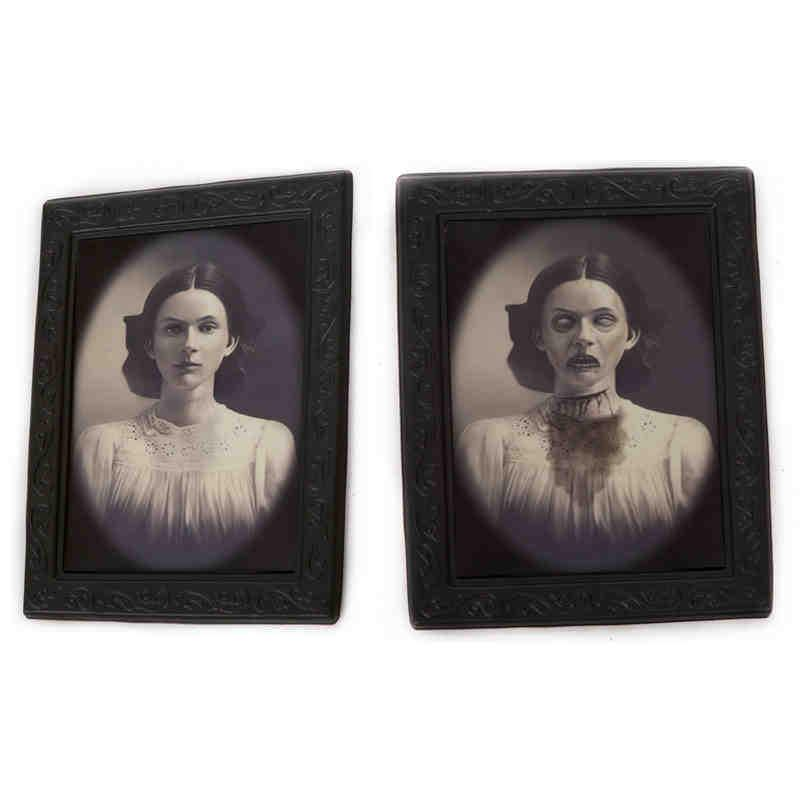 2017 halloween decoration supplies scary lenticular images magic photo frame bar haunted house halloween party props ghost craft from beijia2013 - Scary Props