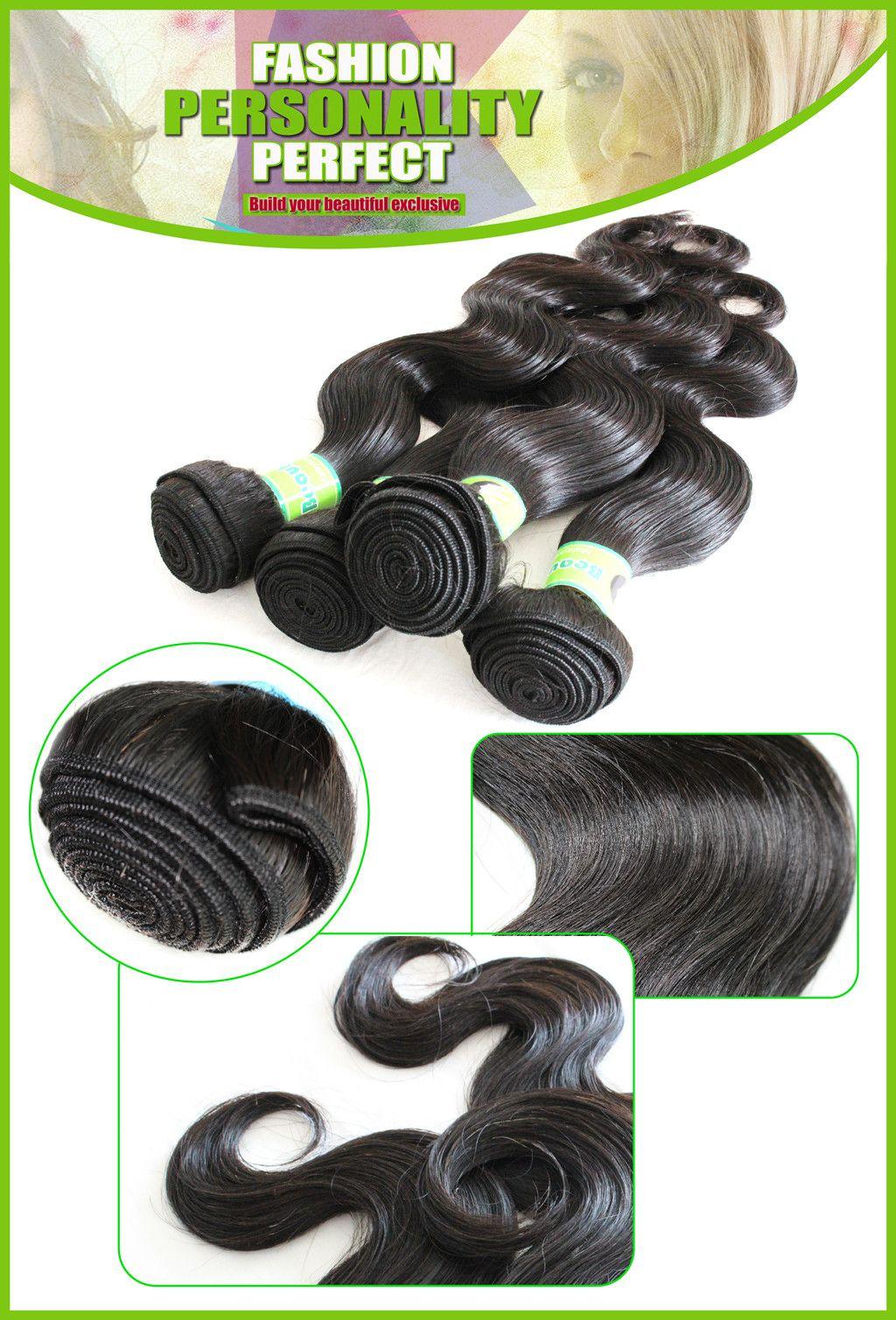 브라질 헤어 위브 구매 헤어 하나 무료 레이스 클로저 처리되지 않은 말레이시아 페루 몽골어 인간의 머리카락 확장