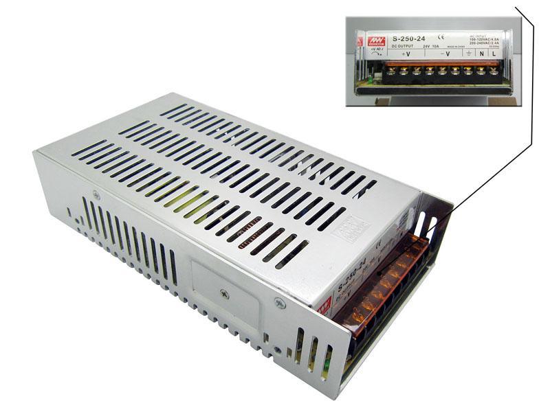 Darmowa Wysyłka DHL 24 V 10A 240W LED Zasilanie aluminiowe 100-240VAC 24 V DC do żarówek LED Strip