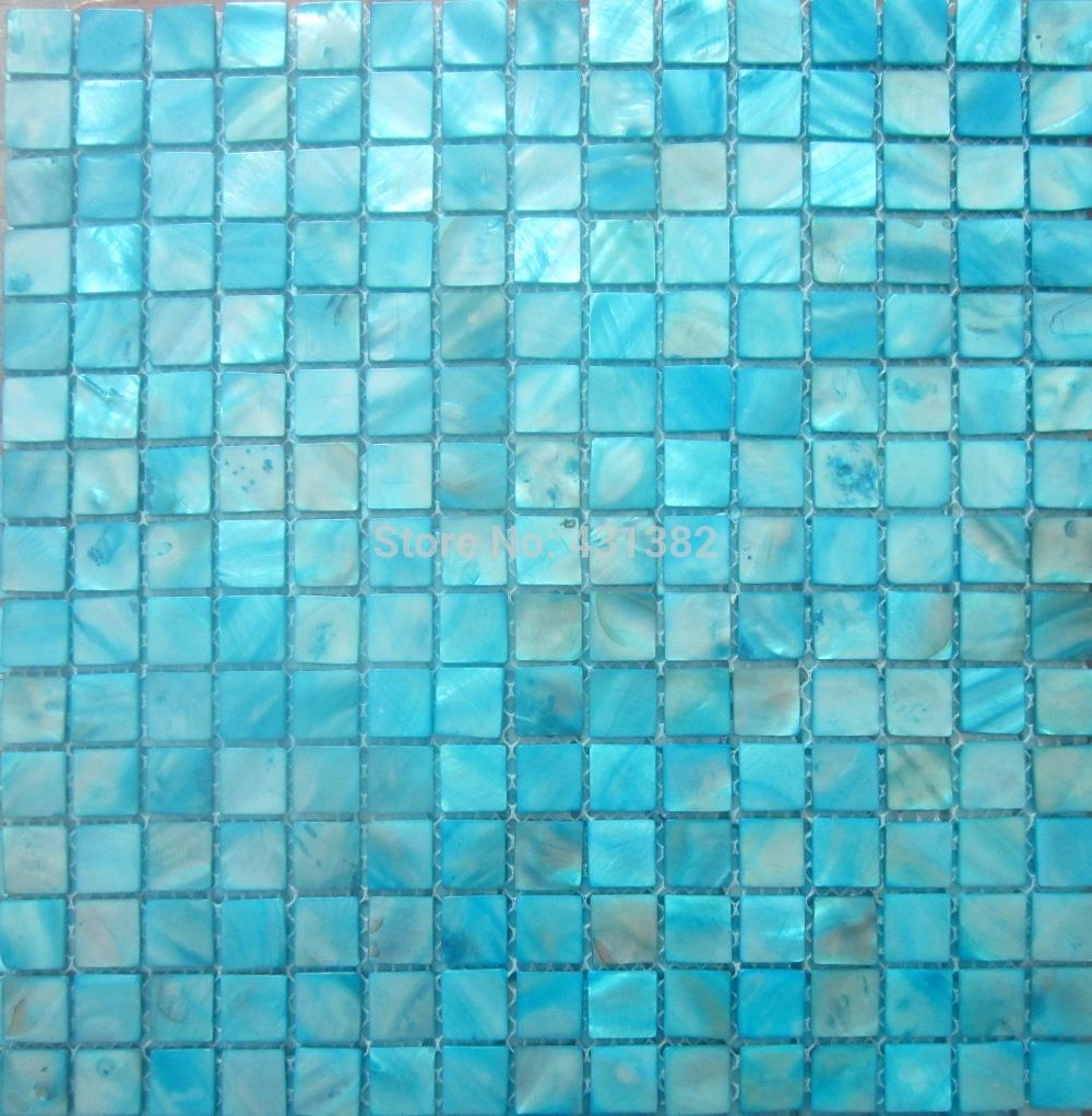 Shell mosaic tiles blue mother of pearl tiles kitchen backsplash see larger image dailygadgetfo Image collections