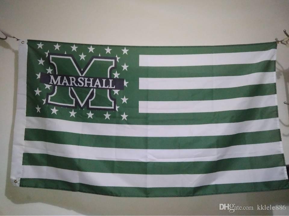 Wunderbar Marshall Thundering Herd Flag 90 X 150 Cm Polyester NCAA Stars And Stripes  Banner