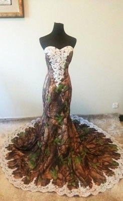 레이스 Strapless 섹시한 Camo 신부 드레스와 인어 Camo 웨딩 드레스 사용자 정의 층 길이 긴 웨딩 드레스 봄 스타일