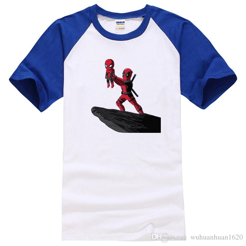 Hombres camisetas de algodón de alta calidad fresco divertido deadpool impreso hombres camiseta casual de manga corta o-cuello camiseta para hombres tops camisetas
