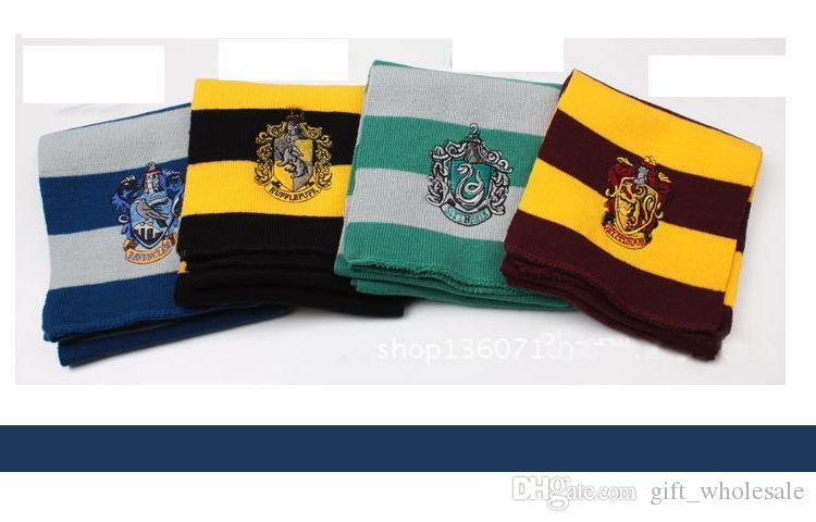 Fashion College Warm Schal Harry Potter Gryffindor Serie Schal mit Abzeichen Halloween Cosplay Kostüme Herbst Winter Schals