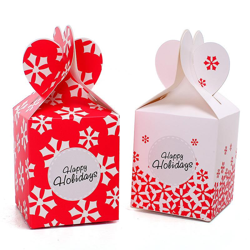 Christmas Gift Packing: Christmas Party Candy Box DIY Art Color Paper Candy Cake