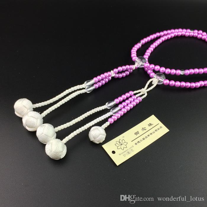 meraviglioso loto Soka Gakkai internazionale SGI perline di preghiera giapponese juzu buddista mala S taglia Materiale viola perla di plastica Spedizione Gratuita