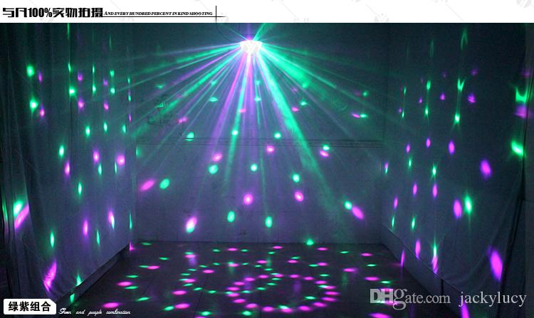 Voice Control LED Crystal Magic Ball Light Change Laser Effects Stage Lighting Disco Lights For DJ Bar Party Supplies