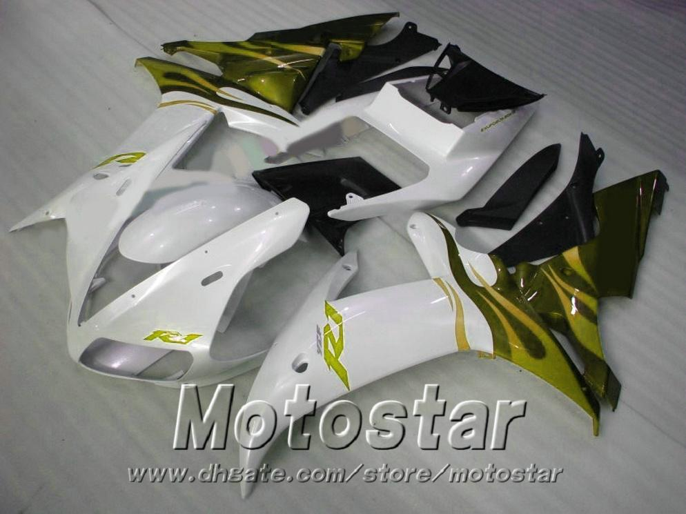 7 free gifts Injection mold fit for YAMAHA R1 2002 2003 green white black fairings yzf r1 02 03 fairing kit LQ93