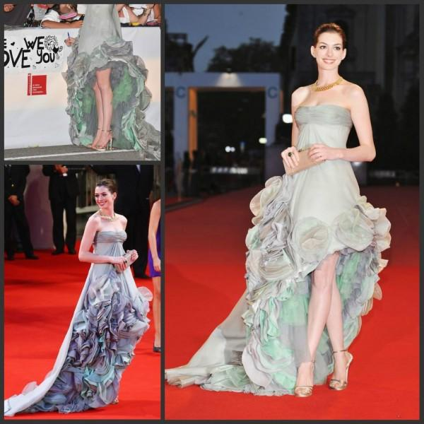 Anne Hathaway Gown: Anne Hathaway For Venice Film Festival Evening Gowns