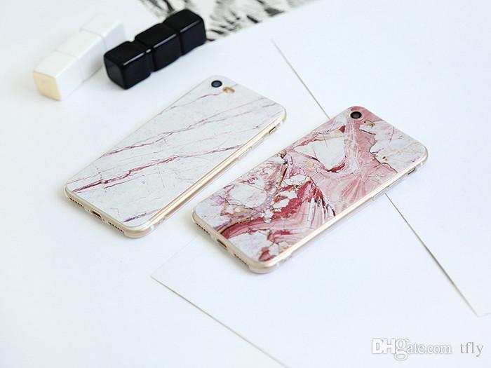 Heiße Weihnachten 20 Art-ultradünne Granit-Marmor-Felsen-weiche TPU Fall-Stein-Muster farbige Zeichnung rückseitige Abdeckung für iphone X 8 7 6 6S plus