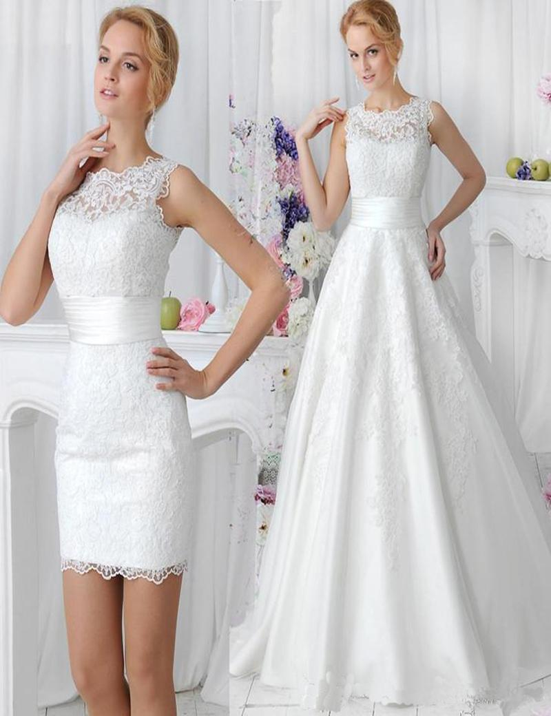 Discount 2016 elegant lace wedding dresses with detachable skirt see larger image ombrellifo Choice Image