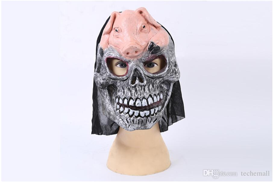 Pig Scary Mask Skull Mask Face Mask High Quality Halloween Make Up ...
