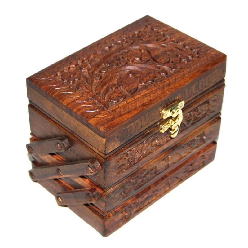 Sarah Wooden Jewelry Box Jewelry Box Box Box Folding Pack