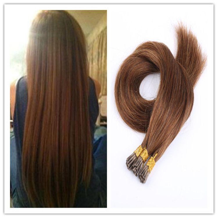 Cheap Prebonded Keratin Fusion Stick Hair I Tip Virgin Remy Human Extensions 1g S 100g Pc 300gStock Extension