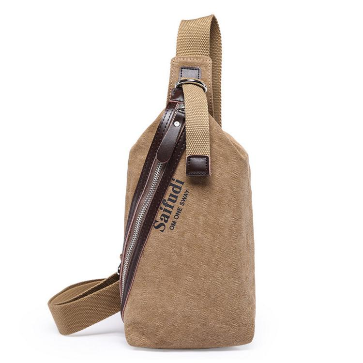 3ce1d8c301 2019 High Quality Canvas Carry On Bag Men Chest Male Bag Sling Pack  Unbalanced Backpack Travel Single Shoulder Crossbody Bag From Fazoz