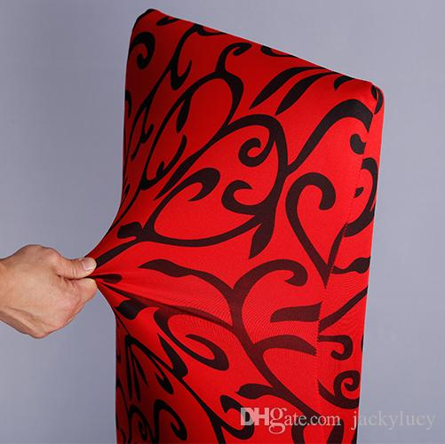 High Quality Printing Flower Design Universal Size Stretch Spandex Chair Cover for Wedding Banquet Hotel Home Computer and Party Supplies